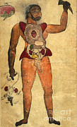 Persian Illustration Prints - Akbars Medicine, Persian Anatomical Man Print by Science Source
