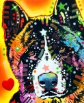 Graffiti Art Prints - Akita 2 Print by Dean Russo