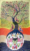 Gond Paintings - Aks 02  by Anand Kumar Shyam