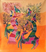 Gond Paintings - Aks 03 by Anand Kumar Shyam