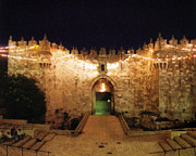 Jerusalem Photos - Al Amoud Gate Jerusalem by Munir Alawi