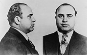 Mug Shot Posters - Al Capone 1899-1847, Prohibition Era Poster by Everett