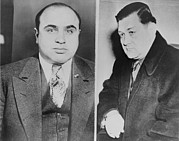 Murders Framed Prints - Al Capone Left And His Rival, George Framed Print by Everett