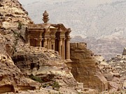 Petra Metal Prints - Al-deir (monastery) Metal Print by Cute Kitten Images