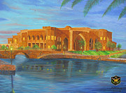 Iraq Painting Originals - Al Faw Palace by Michael Matthews