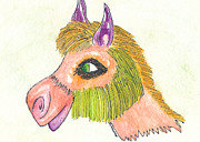 Animal Art Drawings Originals - Al Hairy Paca by Michael Mooney