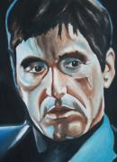 Movie Posters Paintings - Al Pacino Scarface Portrait by Mikayla Henderson