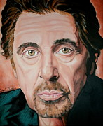 The Godfather Painting Framed Prints - Al Pacino Framed Print by Timothe Winstead
