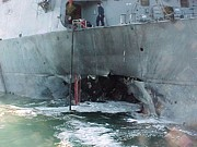20st Century Photos - Al Qaeda Suicide Bombers Rammed The Uss by Everett