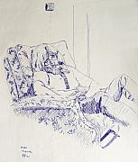 Ball Point Pen Prints - Al-Studying Print by Ron Bissett