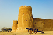 Persian Gulf Countries Framed Prints - Al Zubarah Fort Framed Print by Photography by Lubaib Gazir