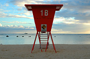 Ala Moana Metal Prints - Ala Moana Lifeguard Station Metal Print by Mark Gilman