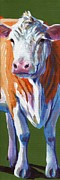 Domestic Animals Paintings - Alabama Cow by Pat Burns