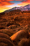 Alabama Hills Posters - Alabama Hills Dawn Poster by Inge Johnsson