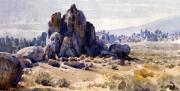 Alabama Painting Framed Prints - Alabama Hills Framed Print by Donald Maier