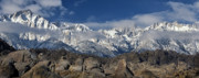 Mount Whitney Prints - Alabama Hills-Mt Whitney- Winter Print by Joe  Palermo