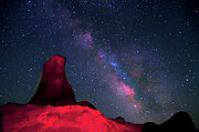 Sky Light Posters - Alabama Hills Tower And Milky Way Poster by Bill Wight CA