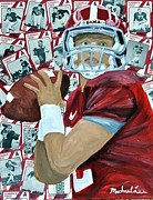 Bryant Mixed Media Originals - Alabama Quarterback by Michael Lee