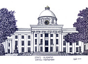 Capitol Mixed Media - Alabama State Capitol by Frederic Kohli