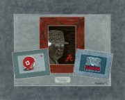 Bear Bryant Art - Alabama Trio by Herb Strobino