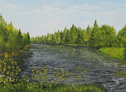 Alafia River Painting Prints - Alafia Print by Larry Whitler
