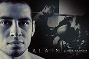 Strength Photo Posters - Alain Hernandez Mixed Martial Artist Poster by Lisa Knechtel