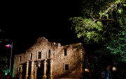 Alamo Art - Alamo at night by Patrick  Flynn