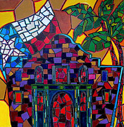 Mosaic Paintings - Alamo Mosaic by Patti Schermerhorn