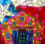 San Antonio Paintings - Alamo Mosaic Two by Patti Schermerhorn