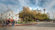 Tower Of The Americas Photos - Alamo Plaza by Sarah Broadmeadow-Thomas