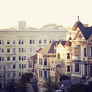 Square Tapestries Textiles - Alamo Square, San Francisco by Image - Natasha Maiolo
