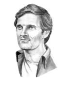 Pencil Portrait Drawings - Alan Alda by Murphy Art. Elliott by Murphy Elliott