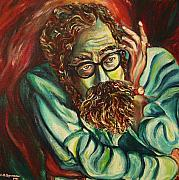 Greenwich Village Paintings - Alan Ginsberg Poet Philosopher by Carole Spandau