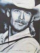 Jackson Drawings Prints - Alan Jackson - In the Real World Print by Eric Dee