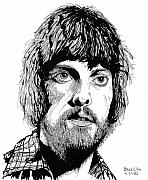 Rock Drawing Drawings Posters - Alan Parsons Poster by Bruce Kay