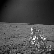 Transporter Prints - Alan Shepard On Moon Print by Nasa