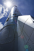 Ksc: K.s.c. Art - Alan Shepards Mercury Redstone rocket used in first US human orbit of Earth May 5 1961  by Chris Haber