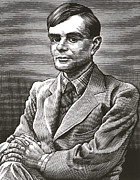 Alan Metal Prints - Alan Turing, British Mathematician Metal Print by Bill Sanderson