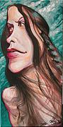 Caricature Paintings - Alanis Morissette by Charles Johnston