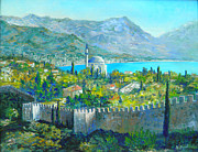 Turkish Paintings - Alanya Turkey by Lou Ann Bagnall