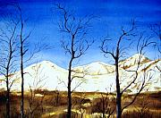 Kodiak Paintings - Alaska Blue Sky Day  by Brenda Owen