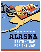 Alaska Digital Art - Alaska Death Trap by War Is Hell Store