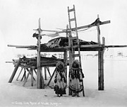 1916 Photos - Alaska: Eskimo Storage by Granger