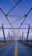 One Point Perspective Photo Posters - Alaska Native Veterans Honor Bridge Poster by Yves Marcoux