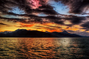 Purple Canvas Prints - Alaska Nights Print by James Heckt