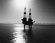 Sea Platform Prints - ALASKA: OIL RIG, 1960s Print by Granger