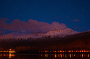 Highway Lights Prints - Alaska Skies Print by Ron Day