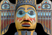Wood Carving Framed Prints - Alaska Totem Framed Print by Mark Greenberg