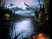 River View Paintings - Alaskan Autumn by Verna Coy