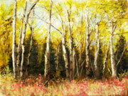 Corwin Paintings - Alaskan Birch by James Corwin